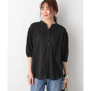 グローバルワーク(GLOBAL WORK)の刺繍スキッパーシャツ(シャツ/ブラウス(半袖/袖なし))