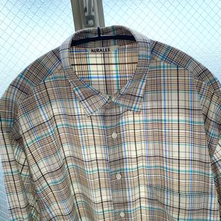 ワンエルディーケーセレクト(1LDK SELECT)のAURLEE オーラリーウールチェックシャツ(シャツ)