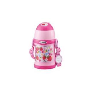 ゾウジルシ(象印)の象印 ステンレスボトル コップ&ストロー 2WAY ピンク(いちご柄)(水筒)