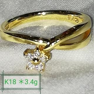 ジュエリーマキ(ジュエリーマキ)の最終お値下げ!K18 ダイヤモンドリング(リング(指輪))
