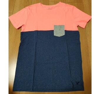 アメリカンイーグル(American Eagle)のアメリカンイーグル メンズ Tシャツ 紺 ピンク(Tシャツ/カットソー(半袖/袖なし))