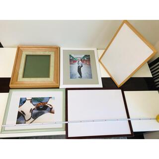 9🖼大判木製額縁🖼フォトフレームまとめて5枚🖼約40×50cm(写真額縁)