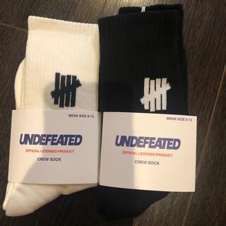 アンディフィーテッド(UNDEFEATED)のundefeated 靴下 SOCKS ソックス アンディフィーテッド 2足(ソックス)
