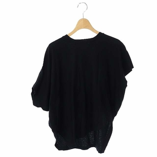 ENFOLD - エンフォルド Tシャツ カットソー アシンメトリー 半袖 クルーネック 38 黒