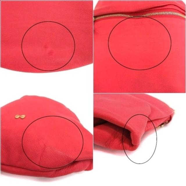mina perhonen(ミナペルホネン)のミナペルホネン タンバリン ハンドバッグ トートバッグ レザー 赤 ゴールド レディースのバッグ(ハンドバッグ)の商品写真