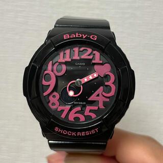 ベビージー(Baby-G)のBABY-G 黒 ピンク 美品(腕時計)