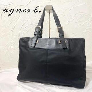 agnes b. - ✨極美品✨ agnes b. トートバッグ A4 黒 レザー ナイロン