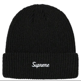 シュプリーム(Supreme)のSupreme Loose Gauge Beanie Black(ニット帽/ビーニー)