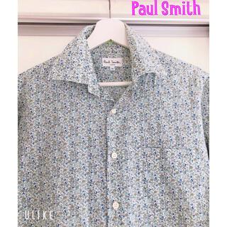 Paul Smith - 【人気アイテム】ポールスミス*花柄シャツ*Mサイズ*グリーン×水色*長袖
