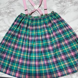 キャンディーストリッパー(Candy Stripper)のCandy stripper チェックプリーツスカート(ひざ丈スカート)