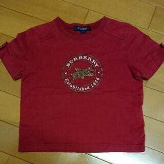 バーバリー(BURBERRY)のバーバリーロンドン飛行機Tシャツ100cm赤色男の子ファミリアミキハウスセリーヌ(Tシャツ/カットソー)