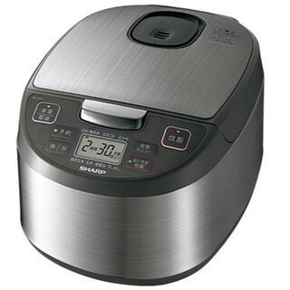 シャープ(SHARP)のSHARP マイコン方式 5.5合 炊飯器【KS-S10J-S】黒厚釜 球面炊き(炊飯器)