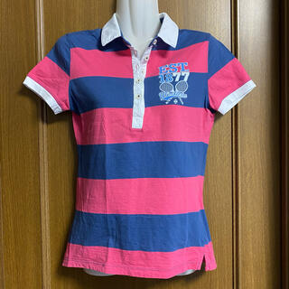 Wimbledon ウインブルドン テニス ポロシャツ レディースS相当 赤と紺(ウェア)