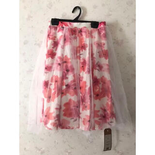 グレイル(GRL)のGRL 花柄ピンクスカート(ひざ丈スカート)