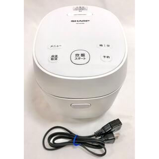 シャープ(SHARP)の☆極美品 シャープ 炊飯器 IH 3合 匠の火加減 KS-HF05B-W(炊飯器)