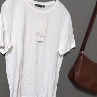 ザラ(ZARA)の【新品】 白Tシャツ(Tシャツ(半袖/袖なし))