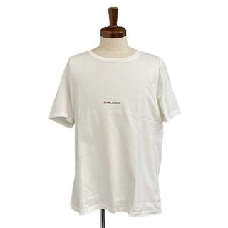 サンローラン(Saint Laurent)のサンローラン Tシャツ  ホワイト #XL メンズ(Tシャツ/カットソー(半袖/袖なし))