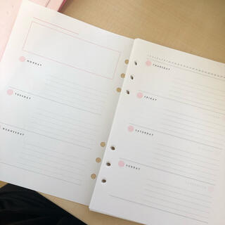 マークス(MARK'S Inc.)のA5サイズ MARK'S手帳用リフィル週間ホリゾンタルのみ(ノート/メモ帳/ふせん)