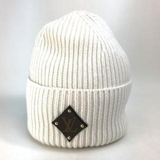 ルイヴィトン(LOUIS VUITTON)の新品同様 ルイヴィトン M76707 LV ボネ・LVビーニー ニット帽 ブロン(ニット帽/ビーニー)