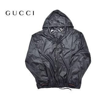 Gucci - GUCCI グッチ イタリア製 ナイロンパーカー ジャケット L 黒