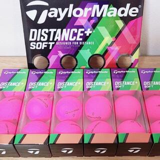 TaylorMade - テーラーメイド ディスタンス+ ソフト ゴルフボール マッドピンクのみ 18個