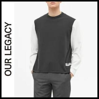 マルタンマルジェラ(Maison Martin Margiela)のOUR LEGACY ロングスリーブカットソー 袖切り替え ロゴ 長袖Tシャツ(Tシャツ/カットソー(七分/長袖))