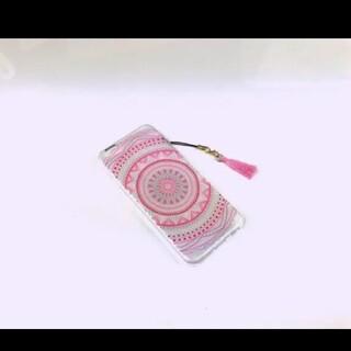 iPhoneケース ピンク 送料無料 アジアン柄 プレセント 人気 可愛い(iPhoneケース)