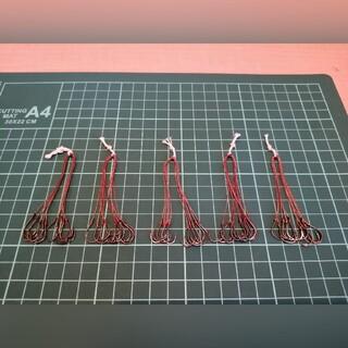 だんご10本針仕掛け 5個セット アシストフック化などに(釣り糸/ライン)