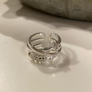 ザラ(ZARA)のnew‼︎ 多重 ボリューム シルバー925 デザインリング(リング(指輪))