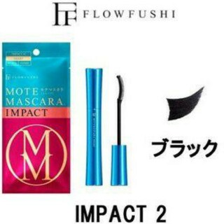 FLOWFUSHI - 未使用品 モテマスカラ ブラック マスカラ コーム
