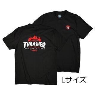 スラッシャー(THRASHER)のスラッシャーTシャツ 黒 L スケボー アウトドア ボード サーフィン バイク(Tシャツ/カットソー(半袖/袖なし))