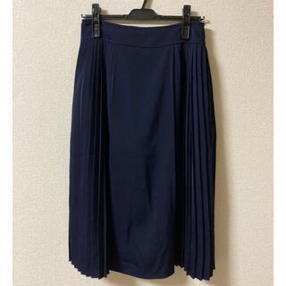 テチチ(Techichi)のTechichi キレイめ スカート ネイビー 紺色(ひざ丈スカート)