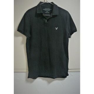 アメリカンイーグル(American Eagle)のAmerican Eagle メンズポロシャツ 黒(ポロシャツ)