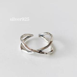 トゥデイフル(TODAYFUL)のsilver925  クロスリング(リング(指輪))