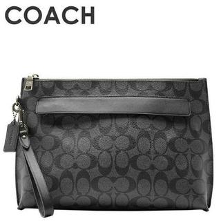 コーチ(COACH)の正規店購入 コーチ シグネチャー黒 クラッチバッグ セカンドバッグ 新品(セカンドバッグ/クラッチバッグ)