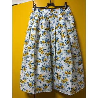 テチチ(Techichi)の♡テチチ♡  水彩花柄スカート      Mサイズ(ひざ丈スカート)