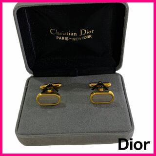 クリスチャンディオール(Christian Dior)の【美品】ディオール コンビカラー カフスボタン 箱つき (カフリンクス)