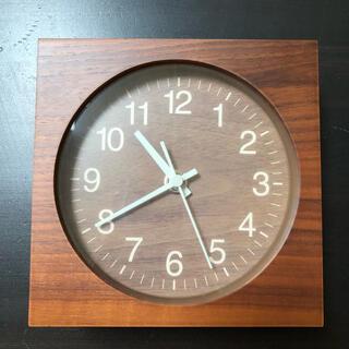 MUJI (無印良品) - 無印良品 木製 壁掛け時計 置き時計 ウォールナット