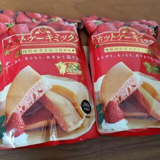 ラスト 福岡県産あまおう苺味 ホットケーキ x2袋 九州小麦使用(菓子/デザート)