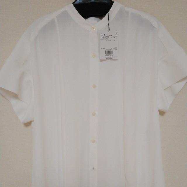 PLST(プラステ)のPLST ジョーゼットバックプリーツブラウス レディースのトップス(シャツ/ブラウス(半袖/袖なし))の商品写真