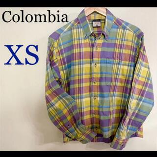 Columbia - ★Colombiaチェックシャツ★【XS】華やかな色合いのチェックシャツ♪