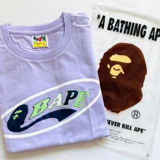 アベイシングエイプ(A BATHING APE)の新品 A BATHING APE アベイシングエイプ ロゴtee(Tシャツ(半袖/袖なし))