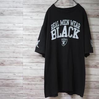 NFL RAIDERS REAL MEN ビッグTシャツ(Tシャツ/カットソー(半袖/袖なし))