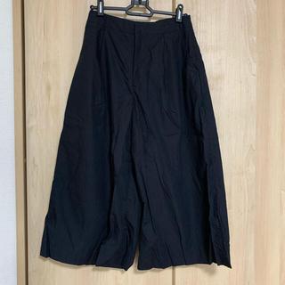 イエナスローブ(IENA SLOBE)のイエナスローブ  ワイドパンツ ガウチョパンツ ブラック 黒(カジュアルパンツ)