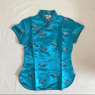 サンタモニカ(Santa Monica)のUSED 古着 チャイナシャツ カンフーシャツ(シャツ/ブラウス(半袖/袖なし))