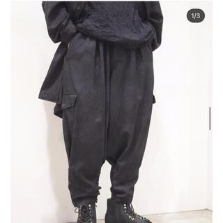 ヨウジヤマモト(Yohji Yamamoto)のyohji yamamoto 20aw ムラ染裾ボタンパンツ(その他)