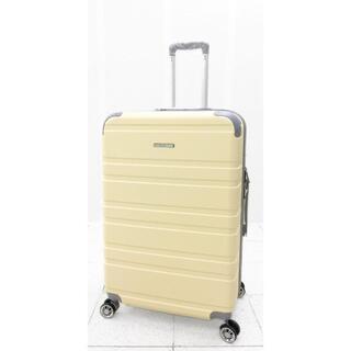 大型軽量スーツケース 8輪キャリーバッグ TSAロック付き Lサイズ ベージュ(旅行用品)