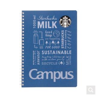 スターバックスコーヒー(Starbucks Coffee)のスターバックスキャンパスリングノート ネイビー スタバ 手帳 メモ帳 文房具(ノート/メモ帳/ふせん)