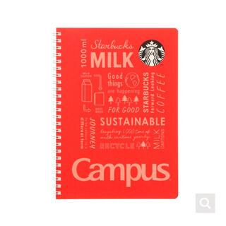 スターバックスコーヒー(Starbucks Coffee)のスターバックス ホリデー クリスマス キャンパスリングノート レッド スタバ(ノート/メモ帳/ふせん)