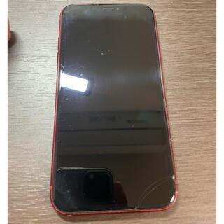 アイフォーン(iPhone)の一部ヒビ simフリー iPhoneXR 128GB レッド シムフリー(スマートフォン本体)